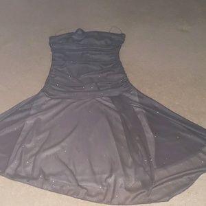 Tube sparkly silver gray dress
